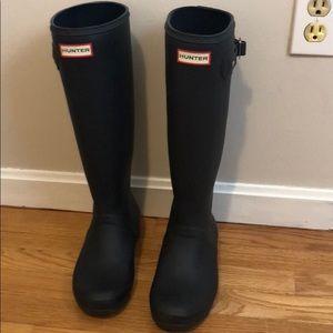 Hunter boots - tall navy matte